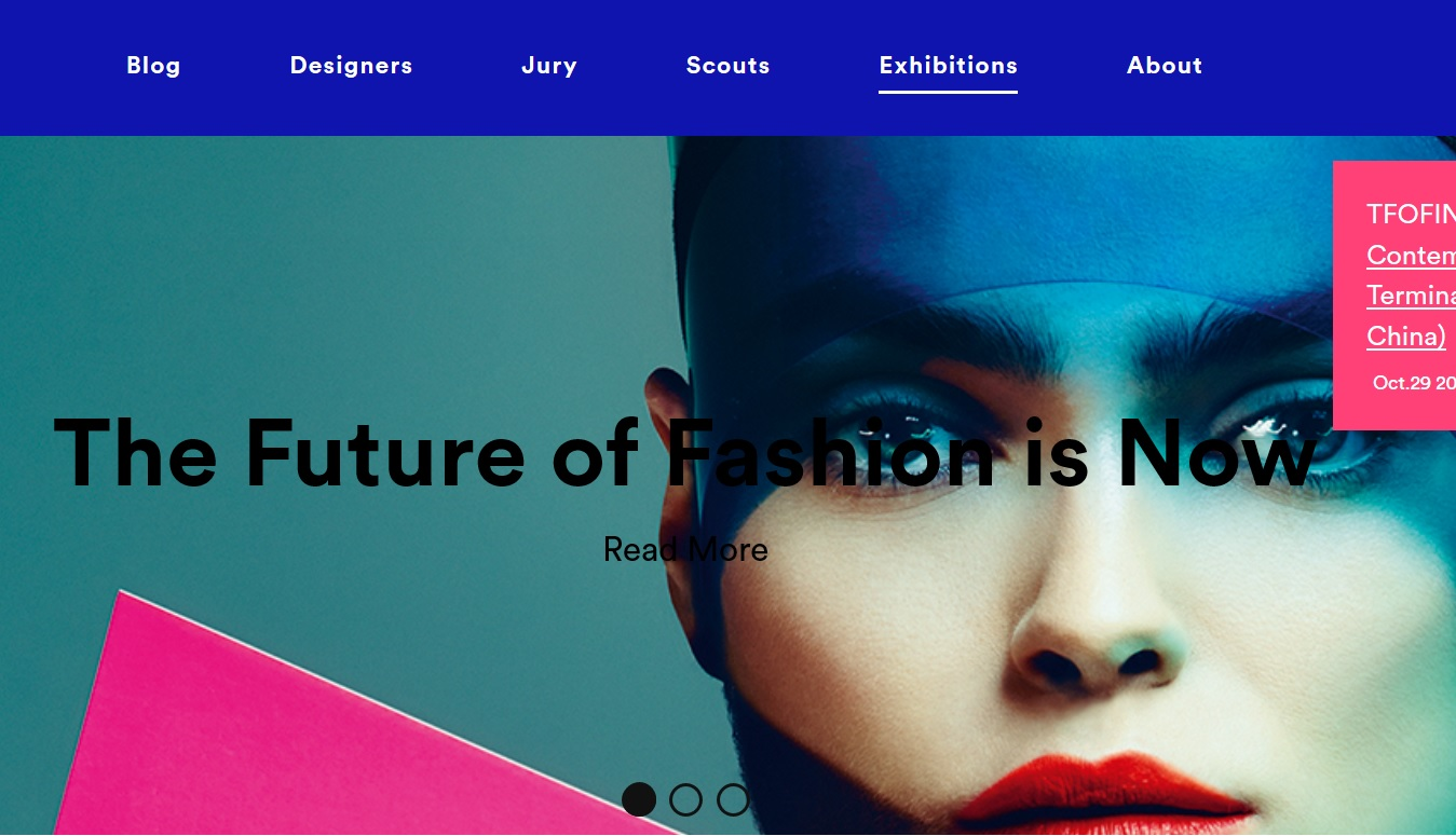 New 'The Future of Fashion is Now' website