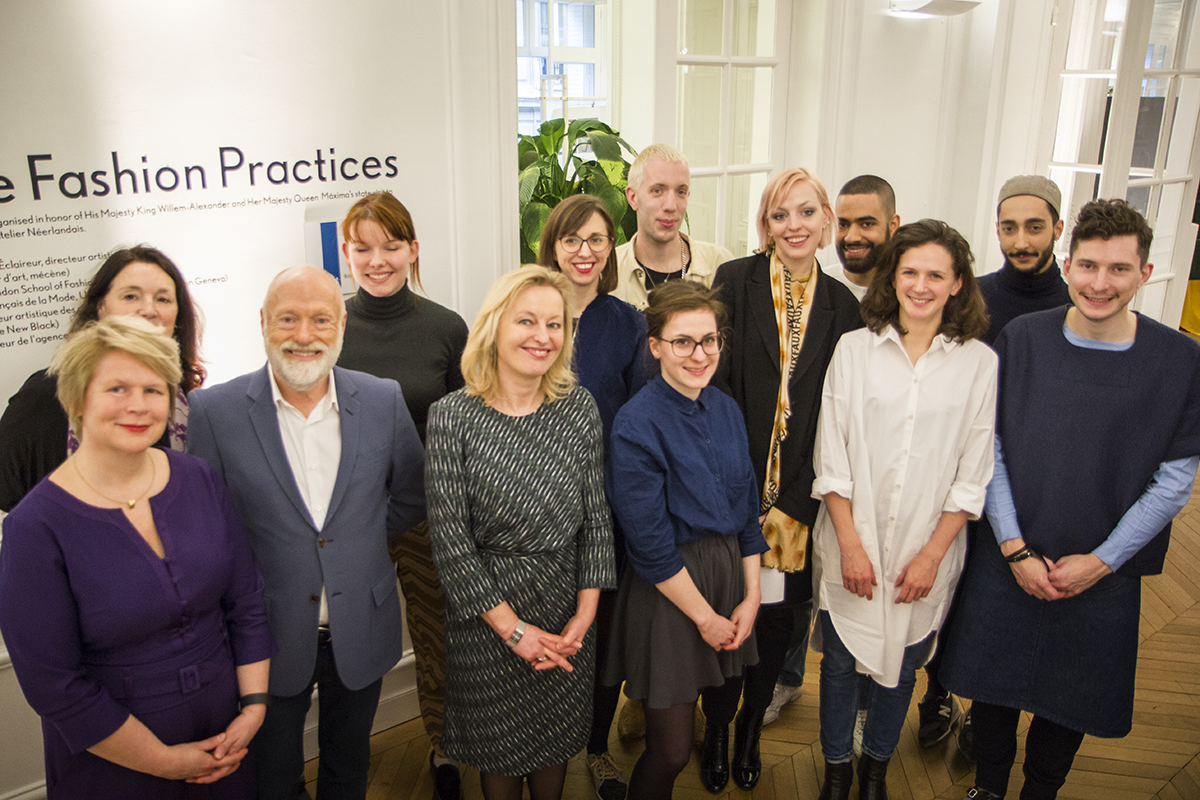 Dutch Minister Jet Bussemaker visits the fashion masterclass 'Future Fashion Practices' at the Atelier Néerlandais