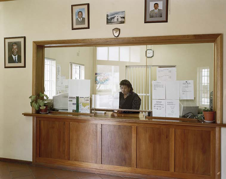 The Cashier and her Counter in the Municipal Offices, Suurbraak [...]